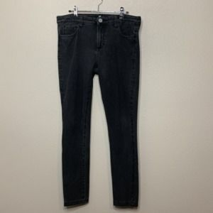 Kut From the Kloth Size 12 Black Gray Skinny Jeans